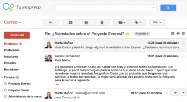 WebMail en la empresa, correo en la nube